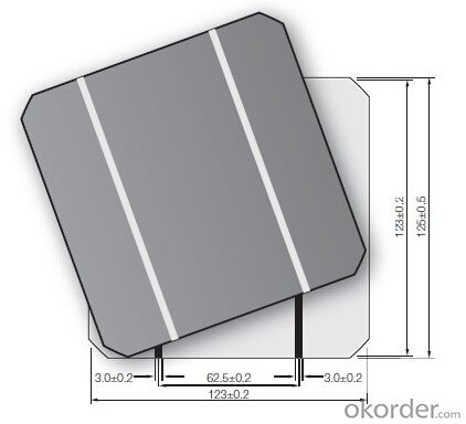 156x156 A Grade B Grade PV Silicon Solar Cell for Solar Panel