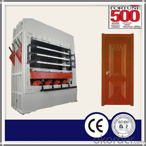 Hydraulic Melamine Veneer Door Skin Moulding Hot Press