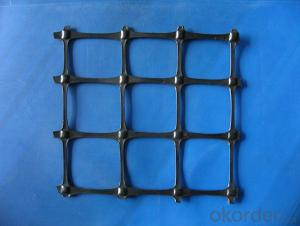 Biaxial Uniaxial Triaxial Platic Geogrid with Bitumen Coated Black   China Made