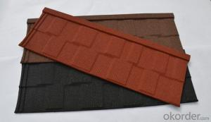 Shingle Colorful Stone Coated Metal Roofing Tile
