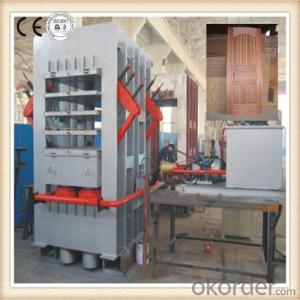 5 Layers Moulding Skin Door Hot Press Machine/ Melamine Door Skin Making machine
