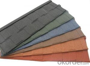 Shingle Types of Colorful Stone Roof Tiles