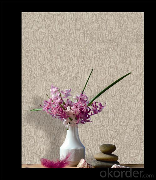 Fabric Backed Wallcovering Thick Decorative Vinyl Deep Embossing Wallcovering