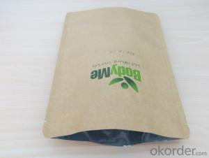 Food Grade Zipper Closer Craft Paper Laminated PET or PE for Packing Bag