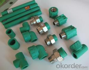 PPR All Plastic Fittings Pipe Plastic Material PPR Reduced Tee T32*25*25