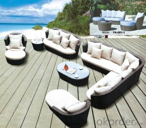 Outdoor Wicker Sofa Set 4 Piece Palm Harbor
