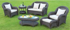 Wicker/Steel Outdoor Patio Set Maui Resin 4-piece