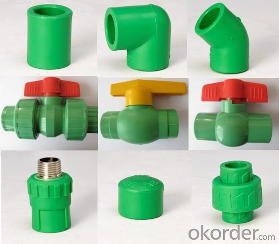 PPR All Plastic Fittings Pipe Plastic Material Thread Plug DIN 8077/8078