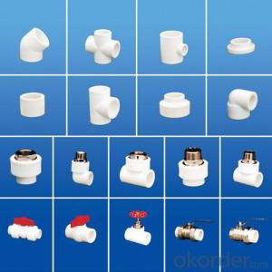 PPR All Plastic Fittings Pipe Plastic Material Elbow 45°
