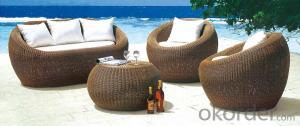 Stylish Outdoor PE Rattan Wicker Patio Sofa Furniture Set