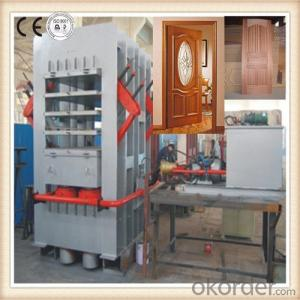 CE Approved Door Hot Press Machine 3 Layer