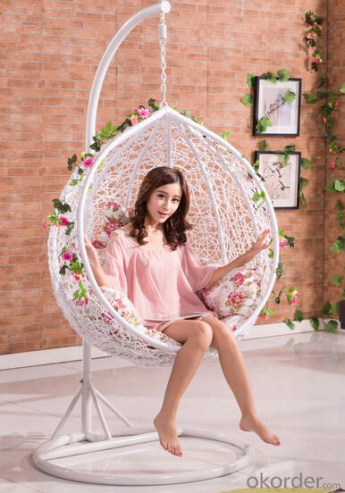 Buy Rattan Wicker Swing Chair With Red Seat Cushion Price Size