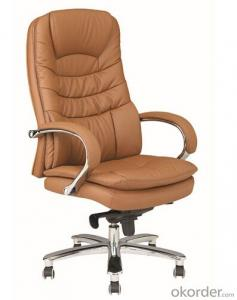 Black Leather Swivel Big Boss Chair CMAX