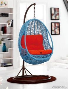 Wicker Swing Chair Blue/ Black  Outdoor Newport