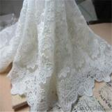 Lace Textile for French Wedding Dress Alencon Lace