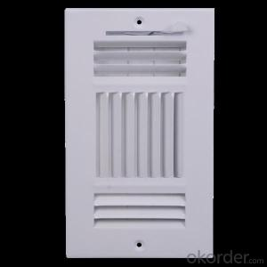 1-4 way curved blade air vent linear diffusers air flow vent air conditioning