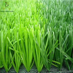 40mm PE Football Artificial Grass , Greenl Synthetic Lawn For Soccer