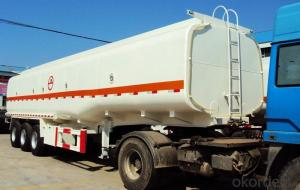 Fuel Tank Truck with Stainless Steel Full Trailer