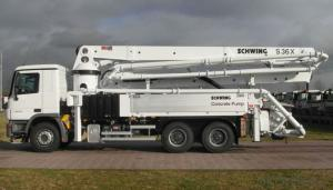 Concrete Pump Truck 80km/H 25m  for Construction Machinery