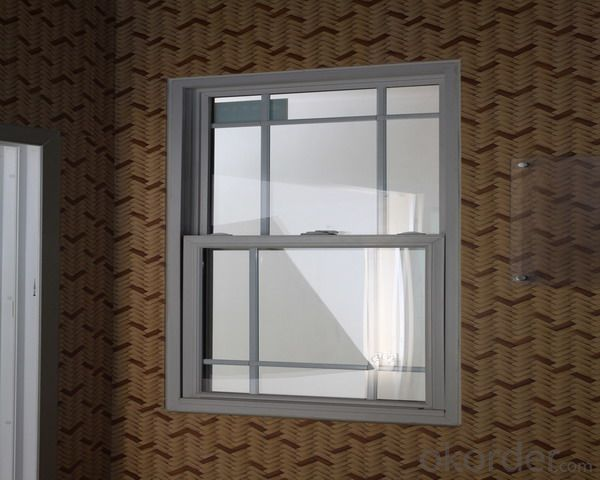 PVC Outward Open Casement Window with PVC Shutter