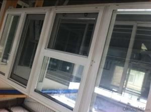 PVC Casement Window with CE ISO Factory