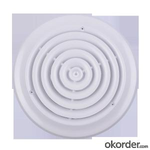 Round air Diffuser with Steel Damper for Air Conditioner