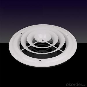 Round Aluminium Air Diffuer with Steel Damper
