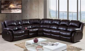 Manually Recliner Sofa with Natural Leather