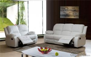 Manually Massage Sofa with Genuine Leather