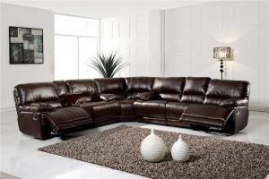 Natural Leather Recliner Sofa of Modern Design