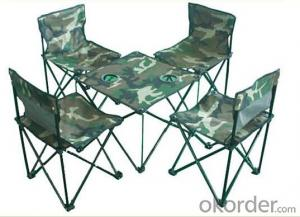 Portable Folding Chair Camping With Cup Holder
