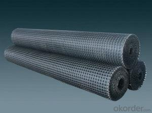 Fiberglass Geogrid with Asphalt Reinforcements