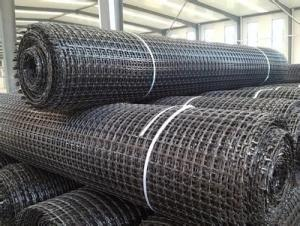 Fiberglass Geogrid with High Tensile Strengthen