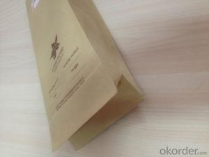 Food Grade Stand Up Craft Paper Bag with Printed for Packing
