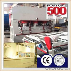 Cabinet Board Melamine Lamination Press Machine