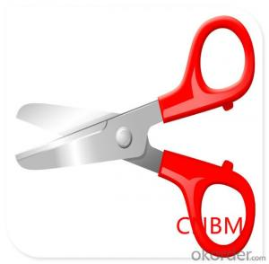 Different Sizes Stainless Steel with Rubber Handle Household Scissors