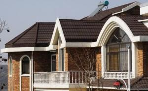 Red Stone-coated Metal Roof Tiles Building Materials