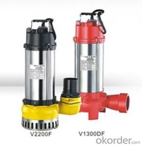 WQ Vertical Sewage Centrifugal Submersible Water Pumps