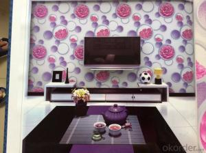 PVC Wallpaper Modern House Design 3d Wallpaper for Home Decorating