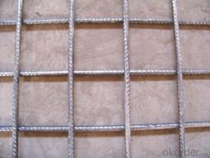 Reinforcing bar mesh for construction reinforcement