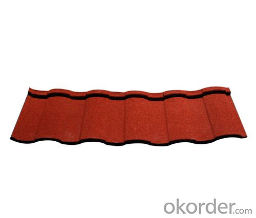 Color Steel Corrugated Stone Coated Roof Tile