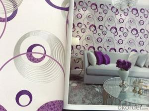 PVC Wallpaper Carbins Modern Geometric 3d Design Wallpaper Pattern Hot Sale