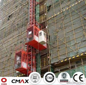 Building Hoist European Standard Electric Parts with Max 5.4ton Capacity