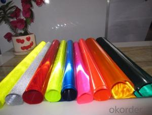 Honeycomb design PVC Material reflective vinyl Flex Banner for Temeporary  Taffic Sign