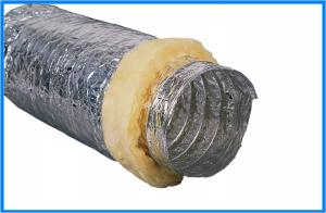 Insulated Acoustic  Flexible Duct Aluminum Foil Flexible Duct