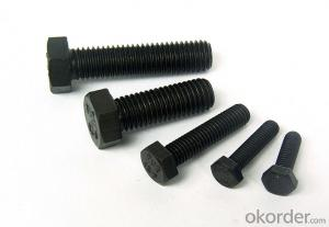 Hex Bolt DIN933 for Building Fastener Suppliers Exporters China Full Thread Black Zinc Plated Bolt