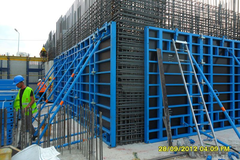Plastic Formwork Concrete Formwork Steel Scaffolding Structural Beams H Frame