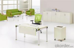 MFC Office Furniture Desk with Steel Legs