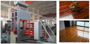 1200T 4X8 Feet Furniture Board Melamine Veneer Laminating Machine