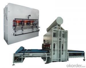 Semi-auto Short Cycle Double Side Melamine Laminate Hot Press Machine